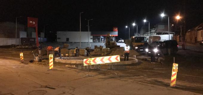 VIDEO: Se lucrează la un nou SENS GIRATORIU în municipiul Turda