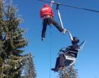 Foto: Serviciul Salvamont-Salvaspeo – Salvare din telescaun în stațiunea Muntele Băișorii