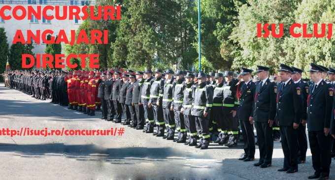 """Șase posturi vacante de ofițer și subofițer în cadrul Inspectoratului pentru Situaţii de Urgenţă """"Avram Iancu"""" al judeţului Cluj"""