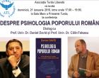 """Asociația Turda Liberală organizează conferința """"DESPRE PSIHOLOGIA POPORULUI ROMÂN"""""""