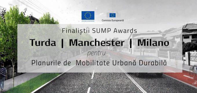 Turda, desemnată finalistă în competiția SUMP Awards a Comisiei Europene, alături de Manchester și Milano!