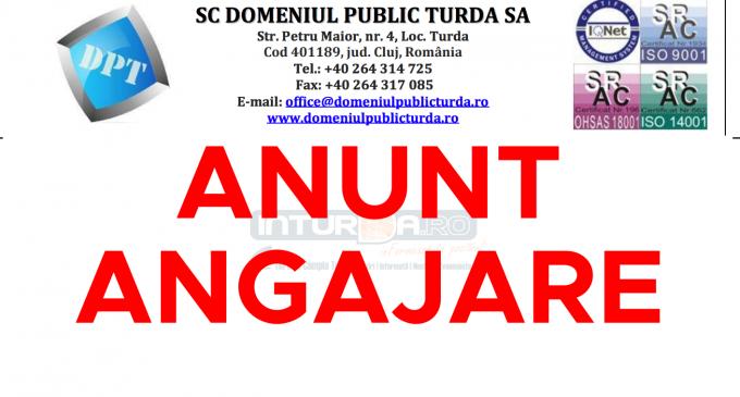 Loc de muncă vacant la Domeniul Public Turda