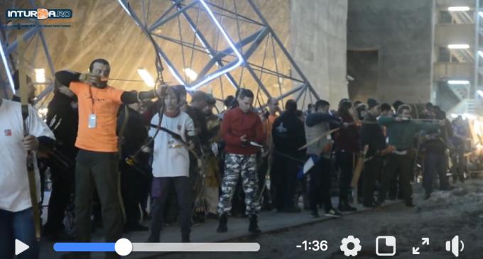 VIDEO: Competiție de Tir cu Arcul în Mina Rudolf din Salina Turda