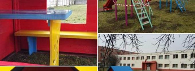 FOTO: Primăria Câmpia Turzii a finalizat amenajarea parcului de joacă la Grădinița Pinocchio