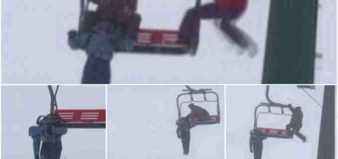 O tânără a rămas agățată de telescaunul de pe pârtia Șureanu