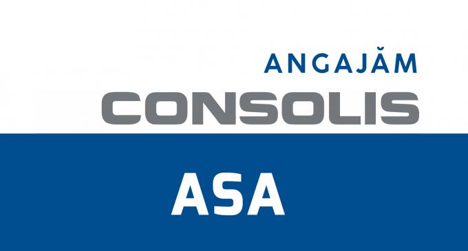 ASA CONSOLIS  – Anunt recrutare personal calificat