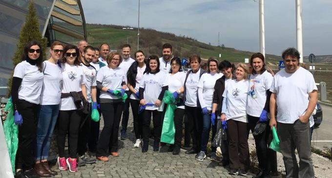 VIDEO/Foto: Salina Turda s-a alăturat campaniei de curătenie initiată de Primăria Turda