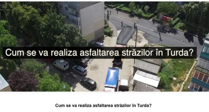 VIDEO: Cum se va realiza asfaltarea străzilor în Turda?  Strategia de modernizare, pe înțelesul tuturor