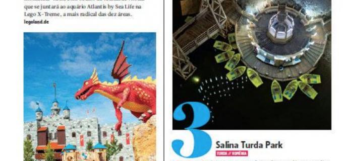 Salina Turda este prezentată în revista companiei de zbor AZUL din Brazilia