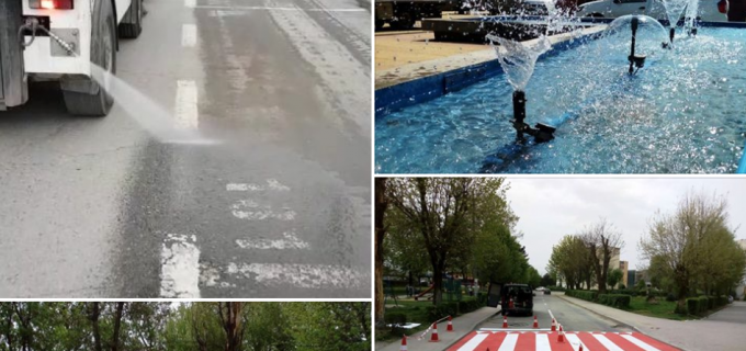 VIDEO/Foto: API Turda continuă actiunile de curățare a străzilor din oraș