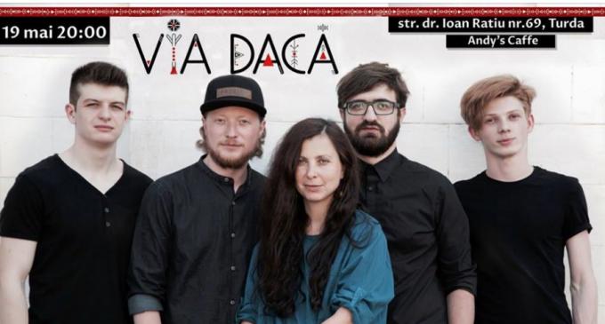 """Concert extraordinar în acest weekend la Andy's Caffe Turda. """"Via Dacă"""" vine direct de la Chișinău pentru a încânta turdenii"""