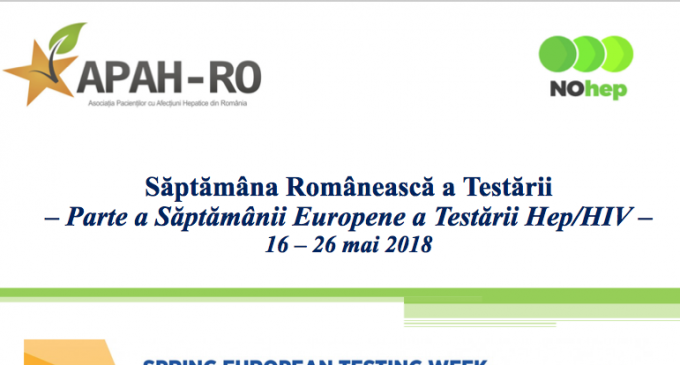 APAH-RO lanseaza Saptamana Europeana a Testarii Hepatite-HIV in Romania