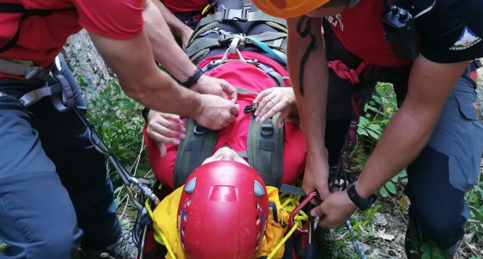 Exercitiu de salvare din verticală în Cheile Turzii