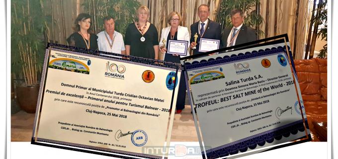 Gala premiilor din cadrul Congresului National de Recuperare, Medicina Fizică și Balneologie a adus două premii pentru Municipiul Turda
