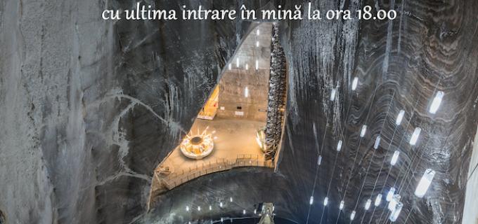 Salina Turda va avea program prelungit de vizitare