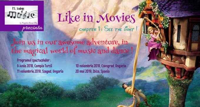 """Spectacolul """"Like in Movies"""" la Palatul Cultural din Câmpia Turzii"""