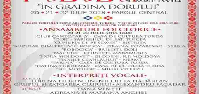 """Prima editie a Festivalului de folclor """"În grădina dorului"""" va avea loc la Turda"""