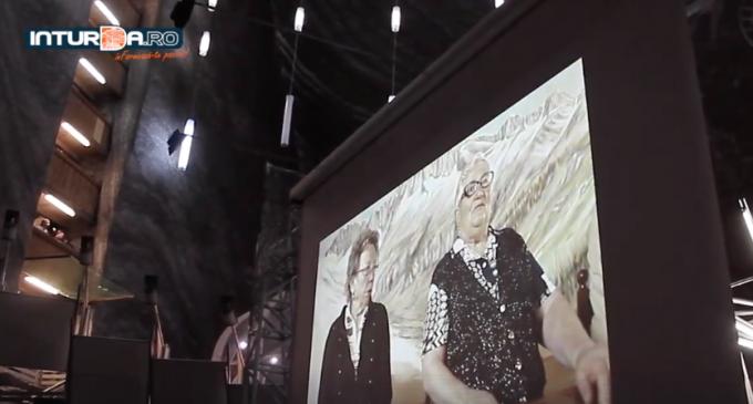 VIDEO: Proiecție de film în amfiteatrul din Mina Rudolf – Salina Turda