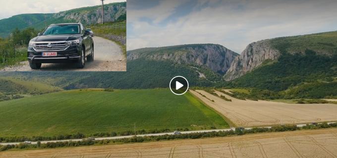 Noul VW Touareg promovat printr-un VIDEO filmat în împrejurimile Turzii