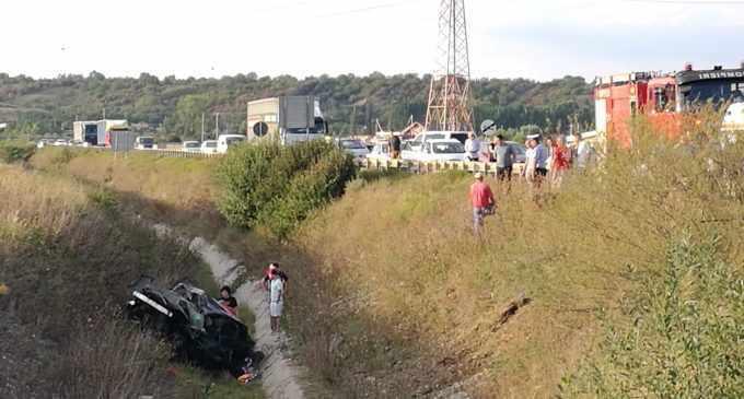 VIDEO: Accident grav la iesirea spre Alba Iulia