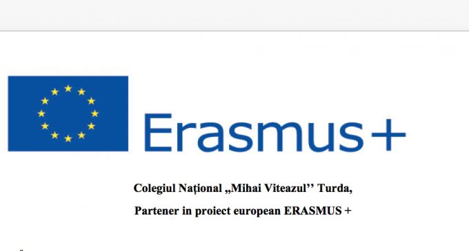 Colegiul Național ,,Mihai Viteazul'' Turda, Partener in proiect european ERASMUS +