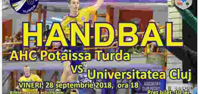 Vineri, 28 septembrie: Potaissa Turda vs. Universitatea Cluj
