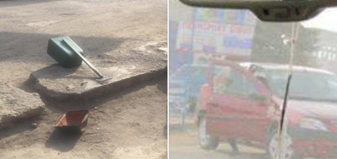 """Foto: A distrus un coș de gunoi și a părăsit locul incidentului. Autorul a fost găsit cu ajutorul grupului """"Azi în Turda"""" de pe Facebook"""