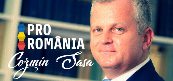 """Cozmin Sasa: """"Am decis sa ma alatur echipei PRO ROMÂNIA, în încercarea de a crea o alternativă la ceea ce se întamplă azi in PSD"""""""