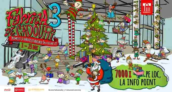 """Se redeschide """"Fabrica de cadouri"""" la Iulius Mall Cluj: peste 7000 de premii oferite clientilor"""