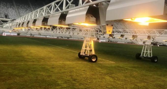 Instalatie performantă de refacere a gazonului de pe Cluj-Arena