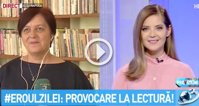 Bibliotecara din Săndulești, Adriana Patacean, prezentă în rubrica EROUL ZILEI de la Antena3