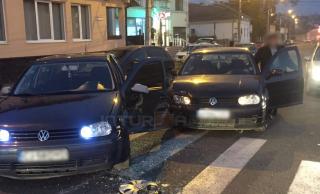 Foto: Accident în apropierea Spitalului Municipal Turda