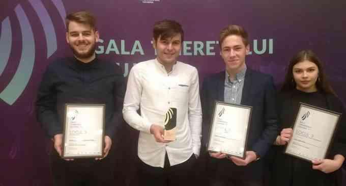 Turda aduce acasă 3 Premii de la Gala Tineretului Clujean