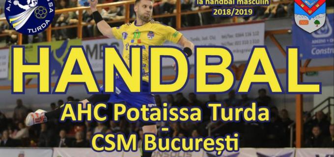 Sâmbătă, 8 decembrie:  Potaissa Turda vs. CSM București