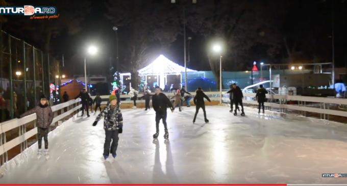VIDEO: S-a dat startul distractiei pe patinoarul de la Câmpia Turzii