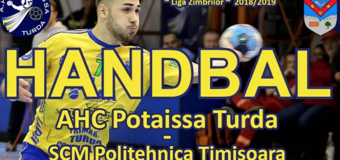 Miercuri, 12 decembrie: Potaissa Turda vs. Poli Timișoara