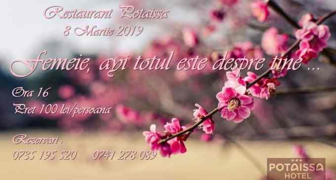 Restaurantul POTAISSA este cadrul perfect al unei zile desăvârșite de 8 Martie