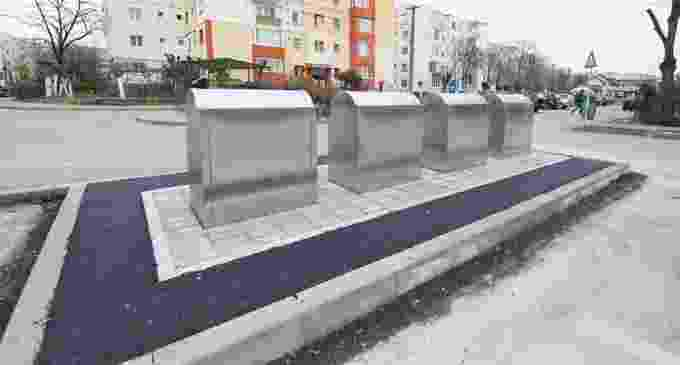 La Turda continua implementarea sistemelor de pubele subterane