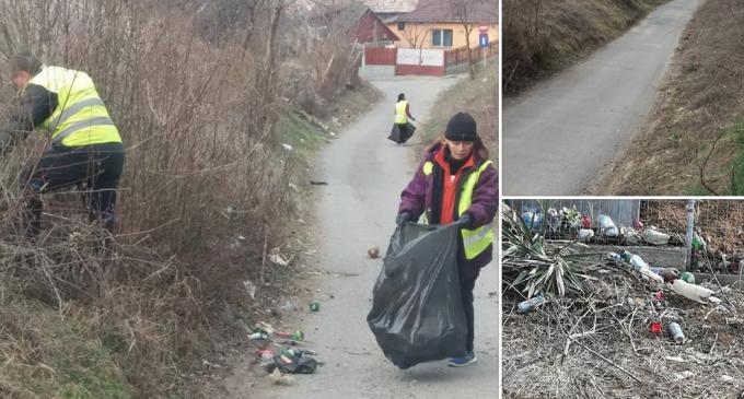 Beneficiarii ajutorului social au fost mobilizați pentru igienizarea zonei din preajma cimitirului Băi Sărate și din cartierul Oprișani