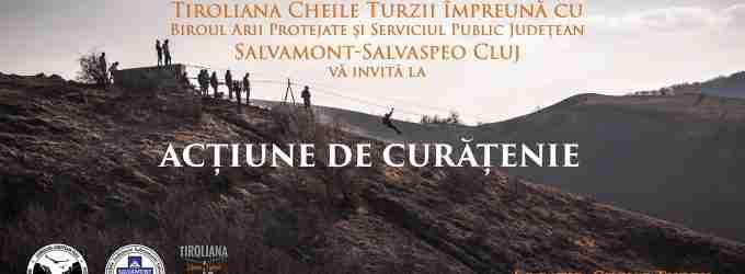 Actiune de ecologizare a traseului deschis turiștilor din Cheile Turzii