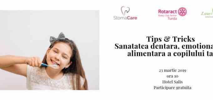 """Conferința """"Tips & Tricks: sănatatea dentară, emoțională și alimentară a copilului tau"""", organizată de Stomacare în parteneriat cu Rotaract Turda"""