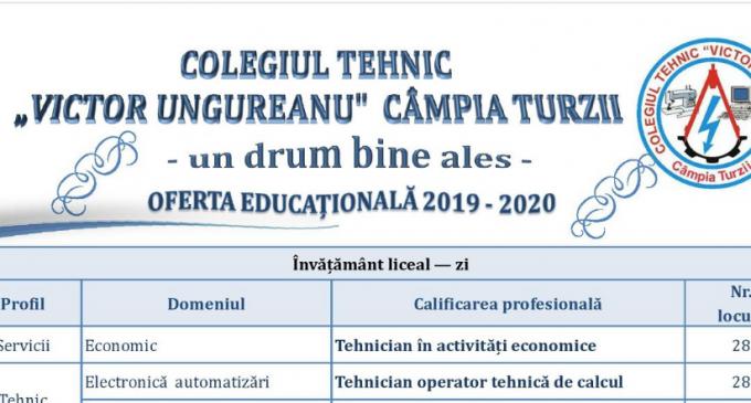 """TÂRGUL MESERIILOR la Colegiul Tehnic ,,Victor Ungureanu"""" din Câmpia Turzii"""