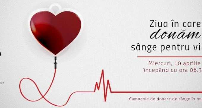 Miercuri, 10 aprilie: Campanie de donare de sânge în municipiul Turda