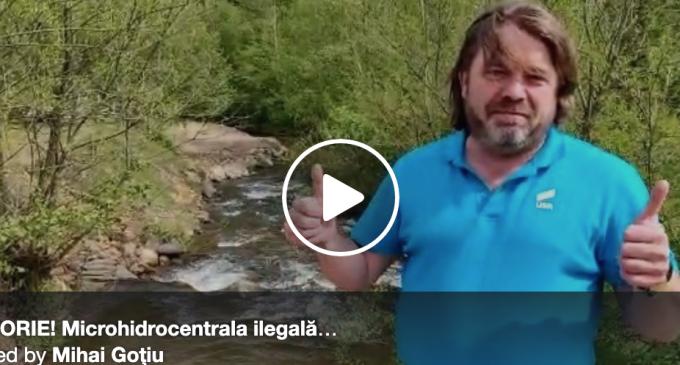În urma demersurilor senatorului USR Mihai Goțiu, microhidrocentrala ilegală de pe Someșul Cald a fost demolată (VIDEO)