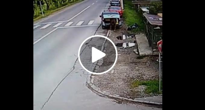 VIDEO: Încă un turdean care își aruncă gunoiul pe marginea drumului