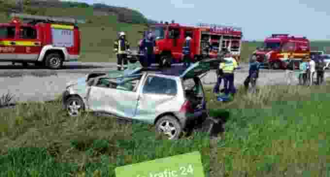 Incindent rutier grav pe centura Vâlcele-Apahida. Șoferul conducea dinspre Turda, înspre Cluj-Napoca