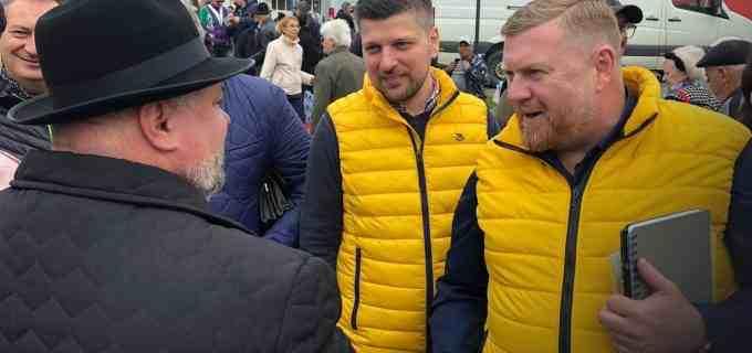 Sorin Moldovan, Alin Tișe și Marius Minzat au fost în acestă dimineață la Câmpia Turzii