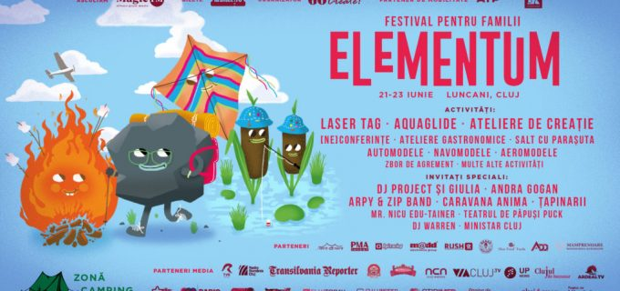 21-23 IUNIE – Festivalul pentru familii ELEMENTUM @Lac Luncani