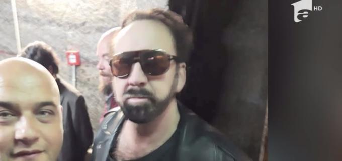 Foto: Actorul american Nicolas Cage a vizitat Salina Turda