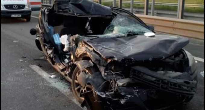 Foto: Accident GRAV pe autostrada Turda – Gilău